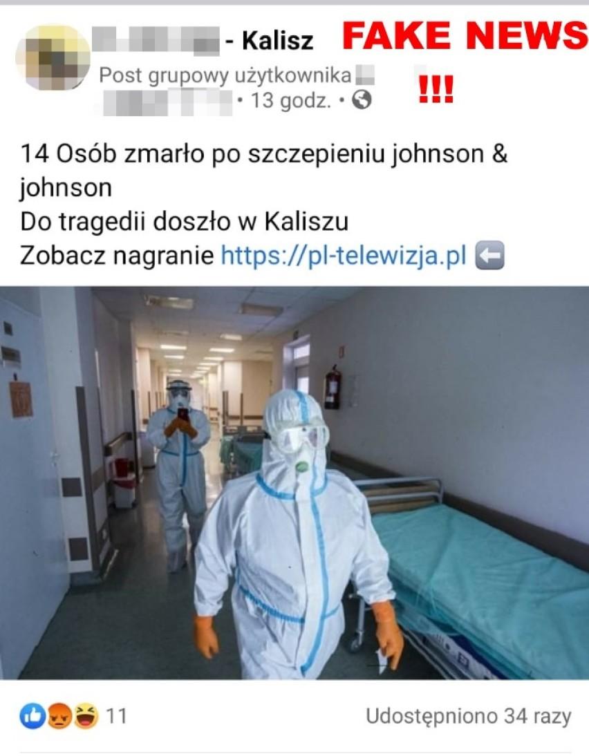 Policja w Kaliszu ostrzega przed fake newsami wymyślonymi...