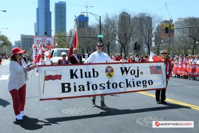 Przedstawiciele Klubu Województwa Białostockiego na 127. Paradzie 3 Maja w Chicago