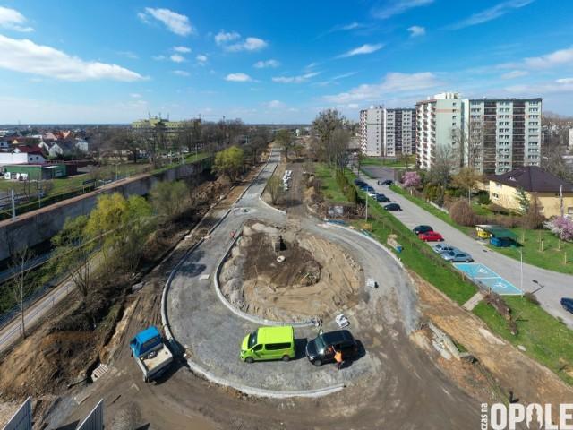 Tak wygląda postęp prac przy budowie centrum przesiadkowego Opole Zachodnie.