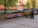 Staranował ławki w Częstochowie. Policja ustaliła ile miał promili