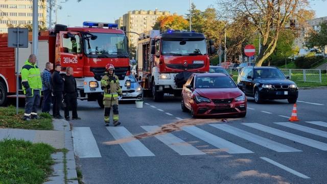Wypadek na ulicy Sandomierskiej w Kielcach.