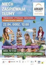 Zaśpiewaj Światowy Hymn Książki w Arkadach Wrocławskich! 22 kwietnia
