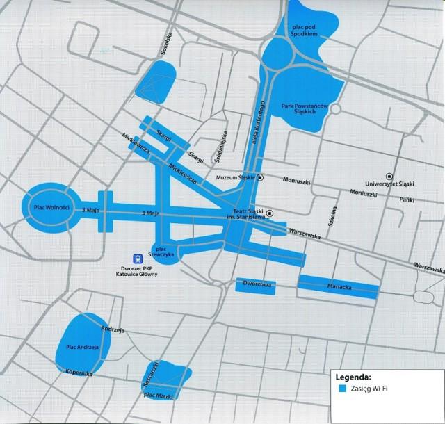 W centrum Katowic za darmo skorzystamy z internetu