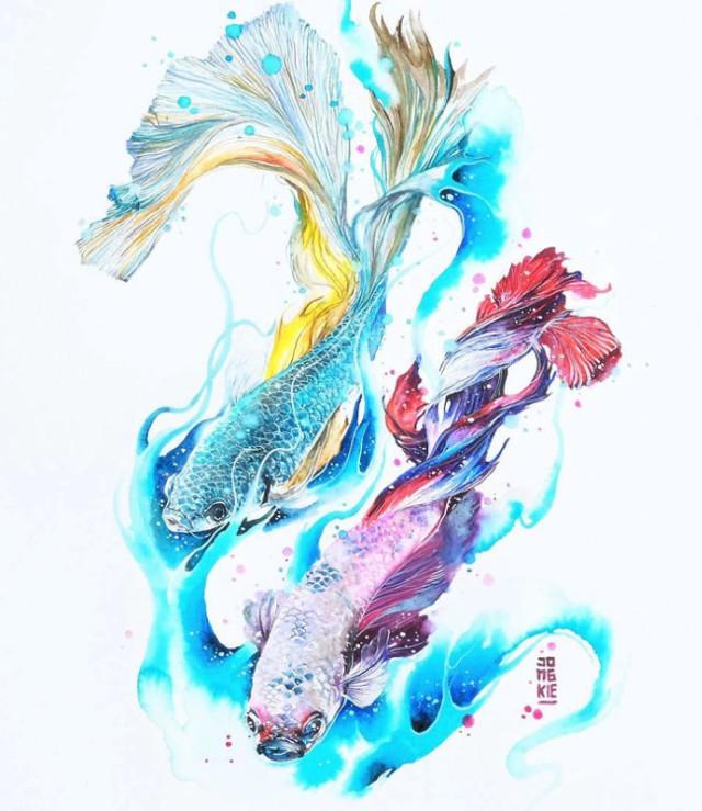 Odkrywa duszę zwierząt za pomocą wyjątkowych ilustracji [GALERIA]