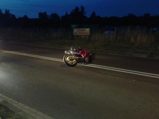 Śmiertelny wypadek motocyklisty w Łubiance