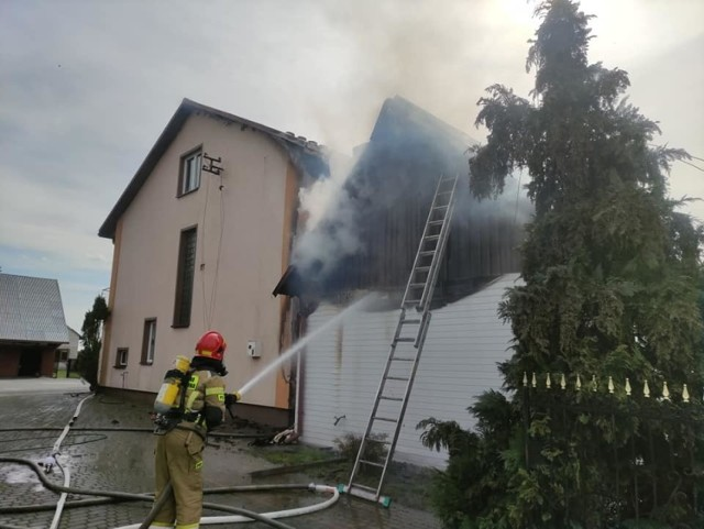 Podczas wtorkowej akcji strażaków w Ostrowie