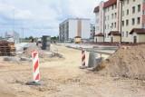 Wągrowiec. Trwa budowa ulicy Wróblewskiego i miejsc parkingowych