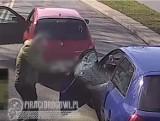 Policja z Wałbrzycha szuka bandyty drogowego, który zajechał drogę innemu kierowcy i metalowym kijem rozbił szybę w jego aucie!