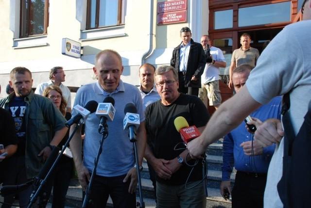 Prezydent Bronisław Komorowski był w Zgorzelcu niespełna godzinę.