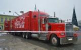 Nowy Sącz. Ciężarowka Coca Coli przyjechała na rynek. Trwają przygotowania do otwarcia[ZDJĘCIA]
