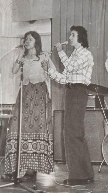 Andrzej Bator z siostrą Ireną na festiwalu w 1972 r.
