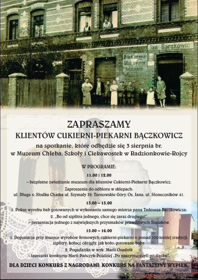 Plakat imprezy w Muzeum Chleba