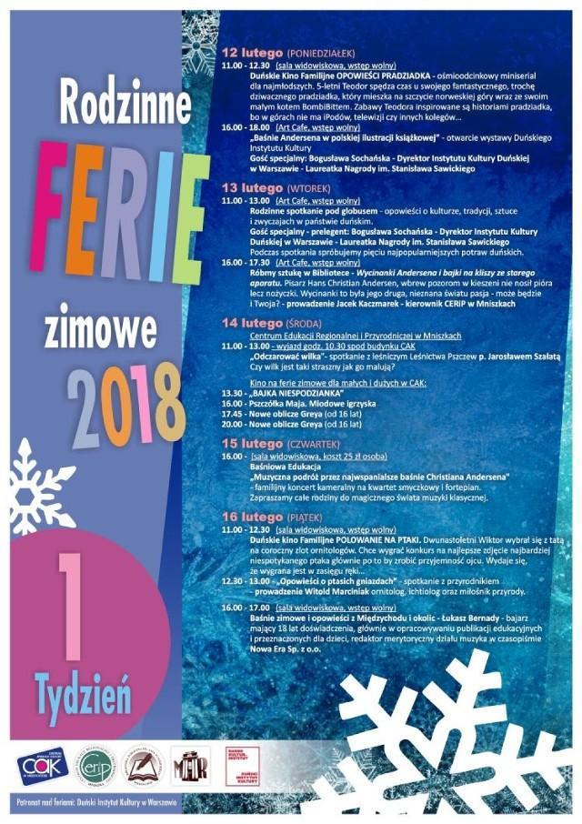 Ferie Zimowe 2018 - powiat międzychodzki