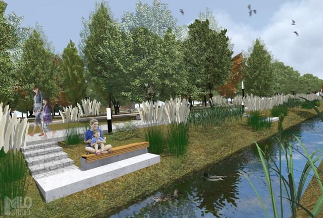 Tak będzie się prezentował Park Miejski w Wolbromiu po rewitalizacji
