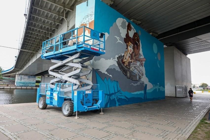 Nowy mural na bulwarach w Szczecinie