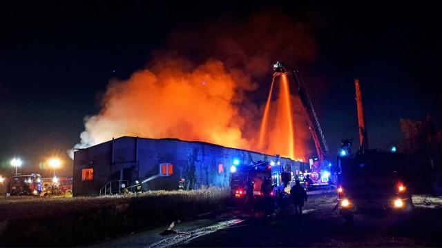 Pożar w Zagorzynie pod Kaliszem. Spłonął zakład stolarski produkujący trumny