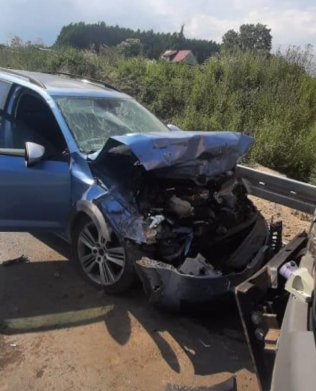 W wyniku zderzenia, do którego doszło 7 lipca w Wiągu ranna została jedna osoba