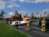Kraków. Nietypowy wypadek z udziałem... łodzi. Spore utrudnienia w ruchu [ZDJĘCIA]