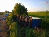 Piekary Śląskie: Ciężarówka wjechała do rowu... a kierowca wypił alkohol po zdarzeniu?