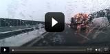 Odśnieżanie A1 2014: drogowcy pracują, choć autostrada jest czarna