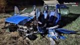 Wypadek w Mikołowie. 20-latek fiatem pandą uderzył w drzewo