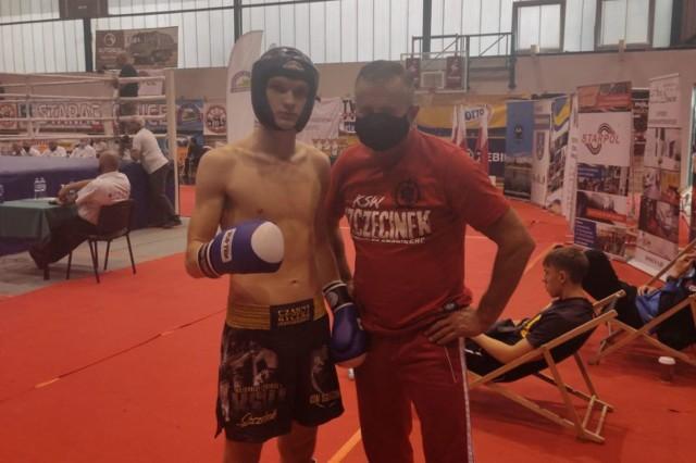 Szymon Gaczyński z trenerem Krzysztofem Pajewskim