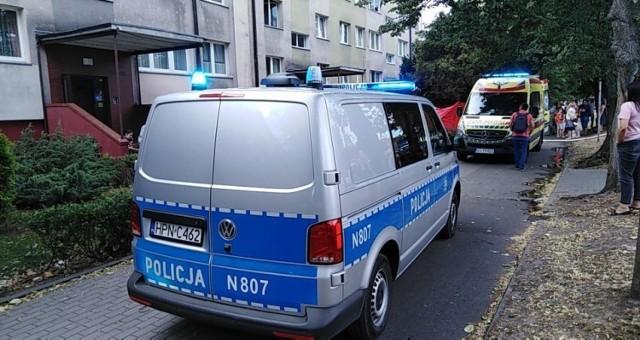 Akcja gaśnicza i ratunkowa w Ustce przy ulicy Wróblewskiego