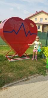 Sołectwo Tupadły. We wsi pod Jastrzębią Górą postawili czerwone serca. To do nich mają trafiać plastikowe nakrętki | ZDJĘCIA
