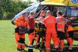 Pożar w Połchowie 19.06.2017. 17-latek w stanie ciężkim zabrany przez śmigłowiec LPR  ZDJĘCIA, WIDEO