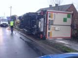 Jaroszewice Rychwalskie: Samochód ciężarowy wjechał w posesję