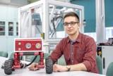 Taki robot może pomóc straży pożarnej w akcjach ratunkowych. Skonstruował go student Politechniki Rzeszowskiej