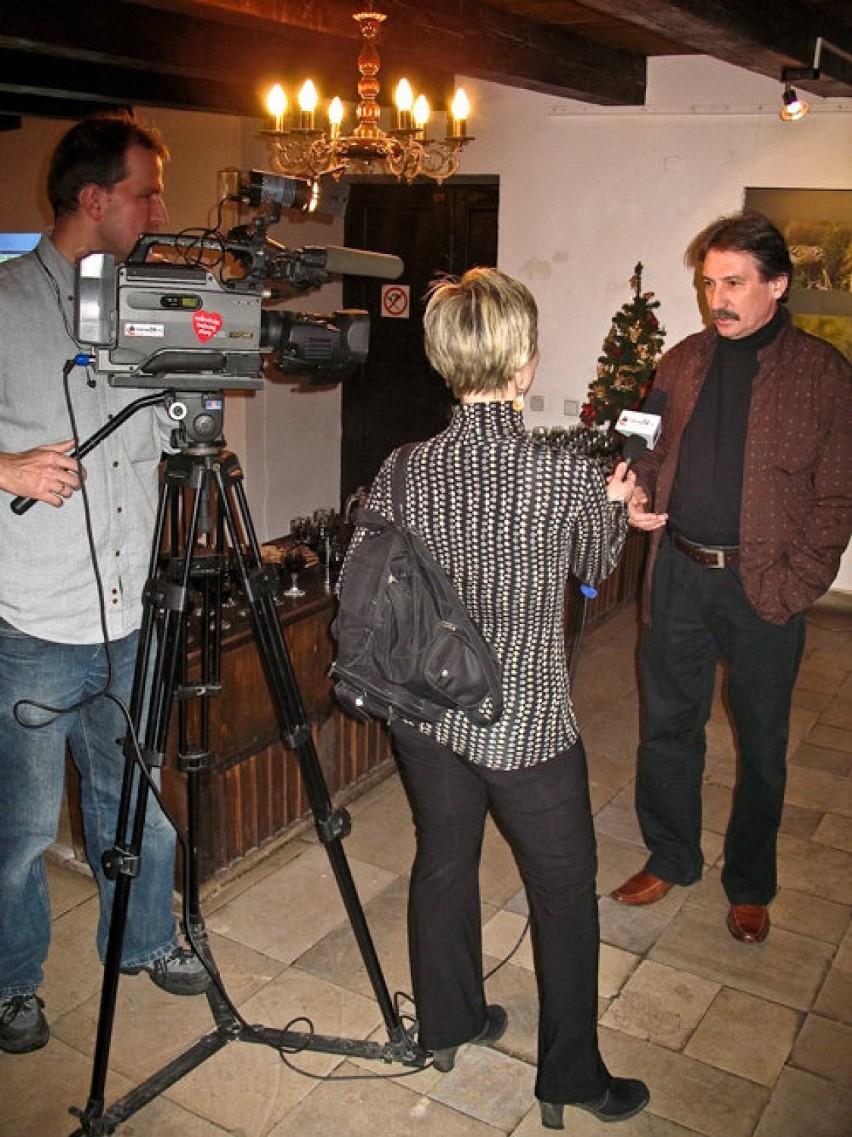 Dziennikarze torun24.tv przeprowadzają wywiad z Leszkiem...