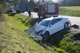 Wypadek na drodze krajowej nr 20 tuż za Miłocicami. Nie ma ofiar (zdjęcia+video)