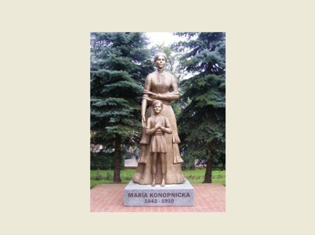 pomnik  Marii Konopnickiej autorstwa Bohdana Chmielewskiego