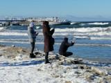 Tłumy na plaży w Kołobrzegu. Wszyscy zachwyceni, kto żyw robił zdjęcia