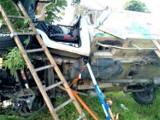 Gm. Malechowo. Dramatyczny wypadek na DK6. Auto koziołkowało i uderzyło w drzewo ZDJĘCIA