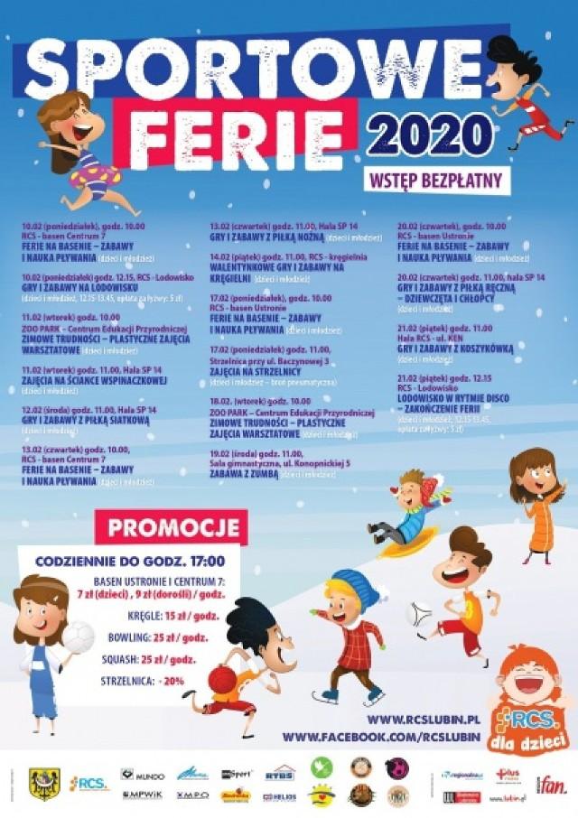 10 lutego ruszają Sportowe Ferie 2020 w Lubinie