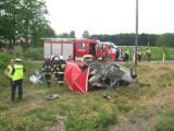 Finał tragicznego wypadku na przejeździe kolejowym w miejscowości Niedźwiedź [ZDJĘCIA KU PRZESTRODZE
