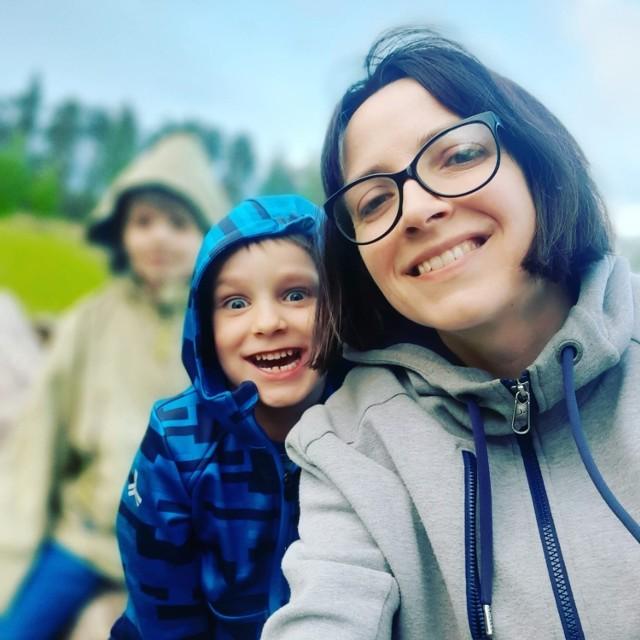 Pani Dagmara i jej 9-letni syn Jacek.