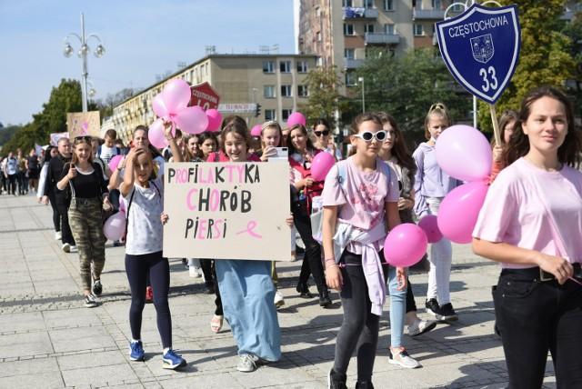 Marsz Różowej Wstążki przeszedł ulicami Częstochowy  Zobacz kolejne zdjęcia. Przesuwaj zdjęcia w prawo - naciśnij strzałkę lub przycisk NASTĘPNE