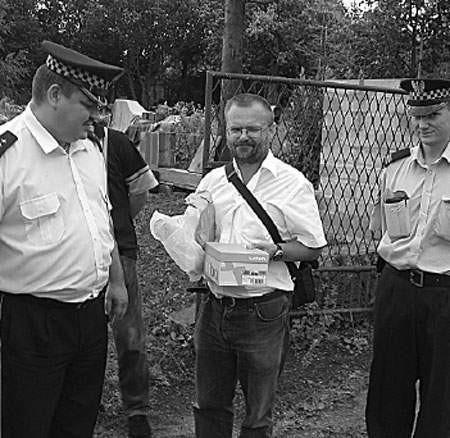 Paweł Ujdak i Wojciech Kubik eskortowali Dariusza Rozmusa w czasie przewożenia skarbu.