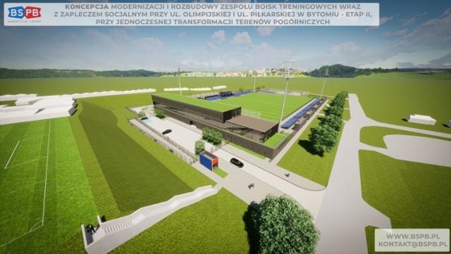 Bytom: miasto przeznaczy dodatkowe środki na budowę nowego boiska i zaplecza treningowego Polonii