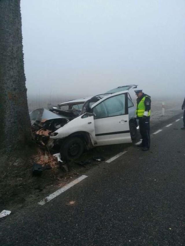 Wypadek w Kiertynach Małych. Zginął 43-letni kierowca
