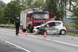 Wypadek w Tęgoborzu na DK 75. Trzy osoby ranne [ZDJĘCIA]