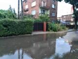 Gwałtowna burza w woj. śląskim. Drogi zalane, mieszkańcy zgłaszali podtopienia
