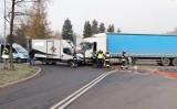 Wypadek w Jastrzębiu. Tir staranował ciężarówkę na skrzyżowaniu