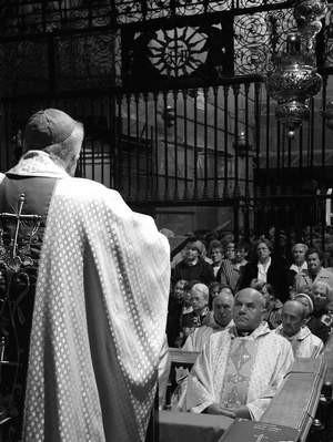 Podczas uroczystej mszy św. w Kaplicy Cudownego Obrazu do odrodzeniowców przemówił abp ks. dr Stanisław Nowak. ZDJĘCIE: TOMASZ ZABOROWICZ