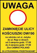Uwaga kierowcy! W weekend będzie częściowo zamknięta ulica Kościuszki w Wągrowcu