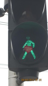 Sygnalizacja świetlna: Kto ubrał zielonego ludzika?
