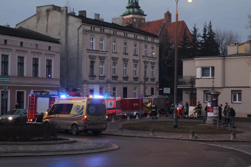 Akcja ratownicza przy ul. Krzywe Koło w Gnieźnie